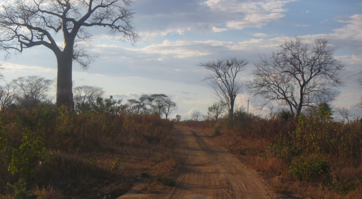Foto - jízda terénem v Mozambiku
